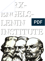 Collected Writings of the Marx-Engels-Lenin Institute