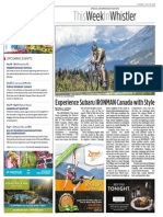 Experience Subaru IRONMAN Canada with Style (This Week In Whistler)