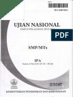 Naskah Soal UN IPA SMPTh 2014 Paket 04