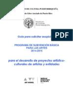Convocatoria PSBA 2014 2015