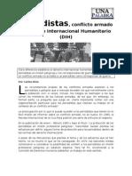 Periodistas, conflicto armado y derecho internacional humanitario