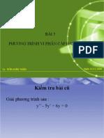 Phuong Trinh Vi Phan Cap Hai Tuyen Tinh %28 Cao Dang%29