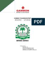 Summer Intrenship at Gammon India Ltd.