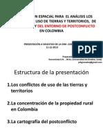 presentacion OIM CARTOGRAFÍA CONFLICTOS TIERRAS Y ACUERDO FARC 2013.pptx