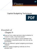 Ch09 Ppt Capital Budgeting Techniques
