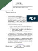 Engagement Letter for Tax Audit