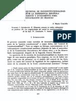 Graciela María, La Cuestión Prejudicial de Inconstitucionalidad