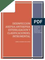 Esterilizacion Asepsia Antisepsia Intrumental