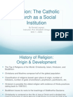 soc 1 - project 2 institutions analysis - the catholic church as a social institution - ron legaspi