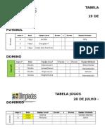 Tabela Jogos 19-07