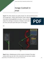 Creating an Orange Cocktail in Autodesk 3dsmax _2 3D2Dizayn Tutorials