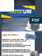 Um Master Application 2014 Sept