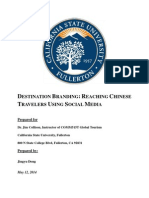 DESTINATION Marketing - REACHING Chinese Travlers Using Social Media