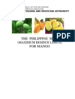 Phil MRLs for Mango