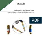 Válvula Contra Retrocesso de Oxigênio e Gás Combustivel