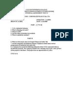 Corporate finance question paper