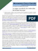17072014 MCC Comunicado de Prensa Cancelacion Credenciales