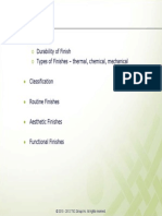 Various Types of Finishing