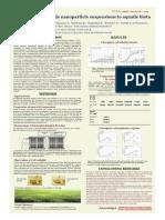 Toxicity of Zinc Oxide Nanoparticle Suspensions to Aquatic Biota