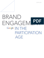 Google Brand Engagement in Participation Age Research Studies