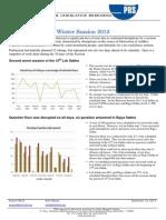 Vital Stats - Winter Session 2013