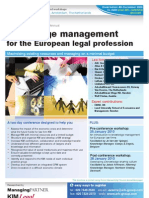 Knowledge Management for the European Legal Profession