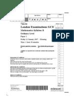 GCE Syllabus B - 01-Mathematics 20071201