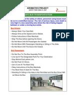 Week 31- Safe Bus Transport