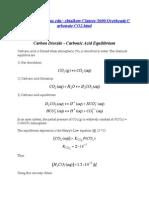 Carbon Dioxide - Carbonic Acid Equilibrium