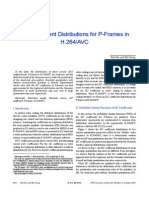 DC coefficient distribution