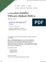 Comment Installer Vsphere ESXI 5