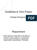 Guidelines to Term Project