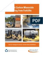 Prevent Co Poison during Forklift operation