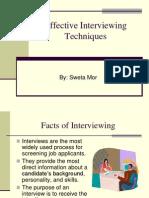 Effective Interviewing Techniques