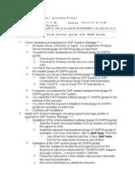 Solman 7.1 Installation Checklist(Oracle)