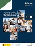 Informe ePyme 2013. Análisis de implantación de las TIC en la pyme española
