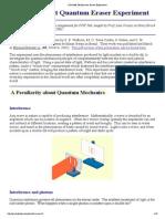 A Double Slit Quantum Eraser Experiment