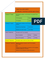 Orange Start of Term at a Glance 2014 2015