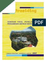 Prosiding Unila 2007 (Buku 1)
