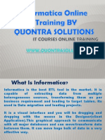 Informatica Training by Quontra Solutions