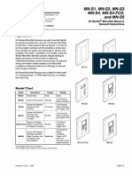 Invensys - Space Sensor MNx Data Sheet