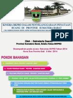 Kinerja BKPRD dalam Penyelenggaraan Penataan Ruang di Provinsi Sumatera Barat