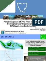 Penyelenggaraan BKPRD Provinsi DKI Jakarta dan Pentingnya Koordinasi AntarBKPRD di Wilayah Jabodetabekpunjur