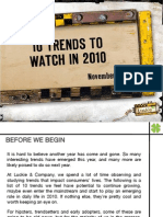 10 Trends to Watch 2010