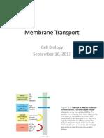 Membrane Transport