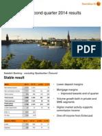 Presentation - Swedbank's Second Quarter 2014 Results