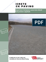 Concrete Block Paving - Cost Comparison Between Concrete Block Paving and Premix Asphalt