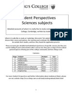 King s College Science Studejnt Perspectives Booklet