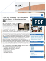 AAMA 501.6 Seismic Test- Focuses on Seismic Safety of Glass Mechanism