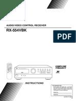JVC RX-554VBK Owner's Manual